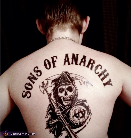 The Back tattoo, Jax from Sons of Anarchy Costume