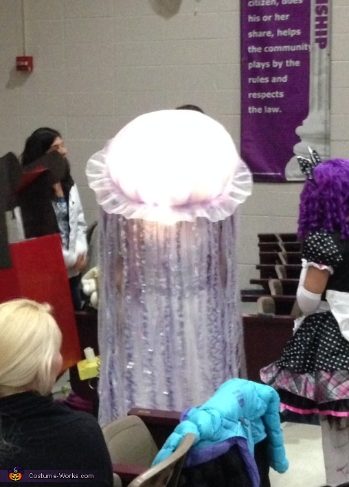 Back of jellyfish costume, Jellyfish Halloween Costume