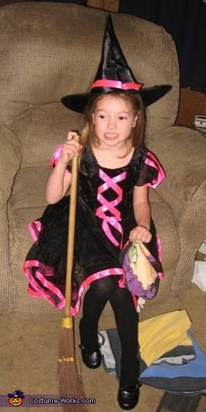 Homemade Little Witch Costume