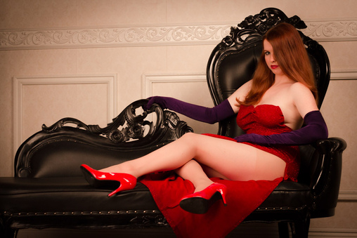 Jessica Rabbit Homemade Costume