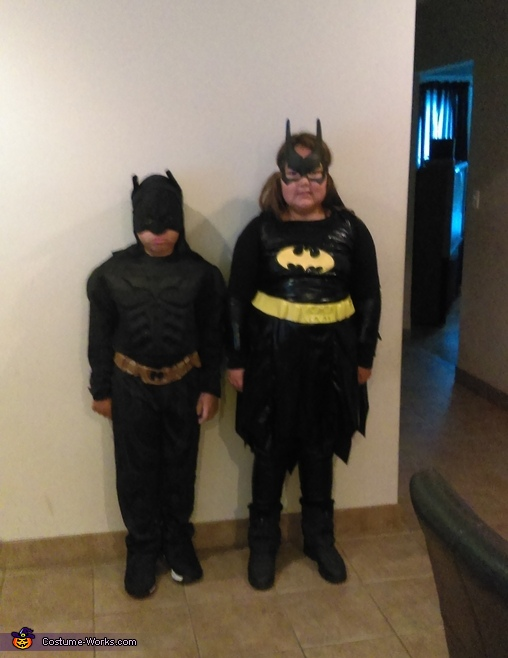 Our kids: Batman & Batgirl, Jestina & Jester Costume
