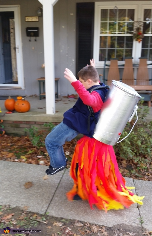 Jet Pack Boy Costume