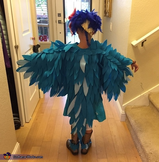 Blue macaw Jewel from Rio back, Jewel from Rio Costume