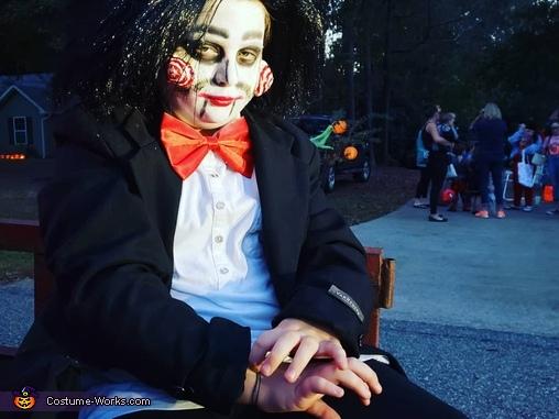 Jigsaw on a hayride, Jigsaw Costume