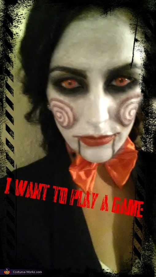 I want to play a game..., Jigsaw Costume