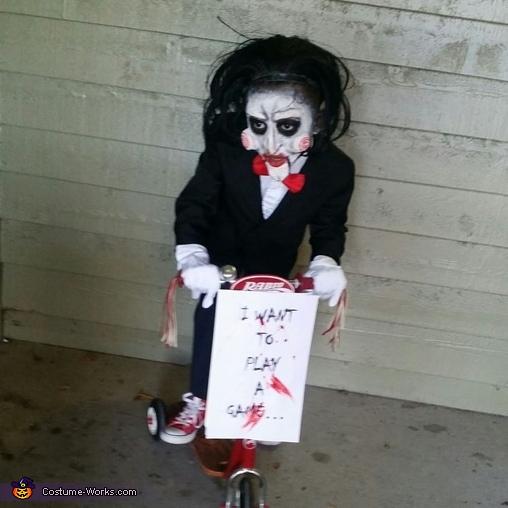 Jigsaw wants to ride Jigsaw Costume & Jigsaw Child Halloween Costume - Photo 3/6