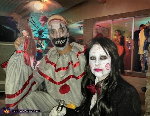 Jigsaw & Twisty the Clown Costume