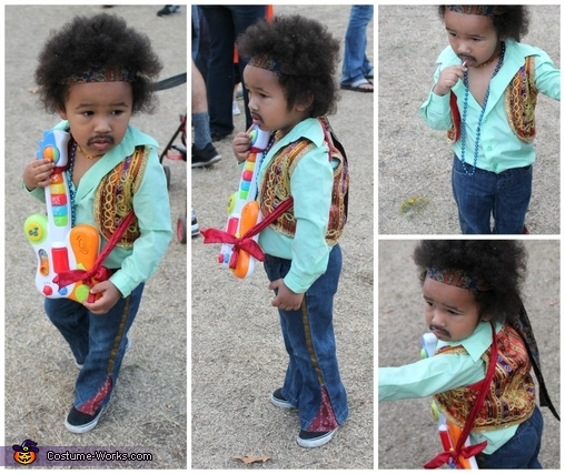 Jimi Hendrix costume collage, Jimi Hendrix Costume