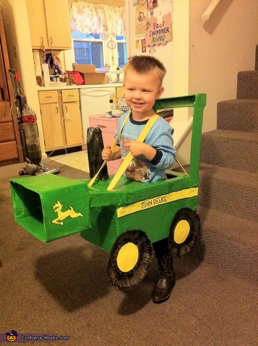 John Deere Front Loader - Homemade costumes for boys