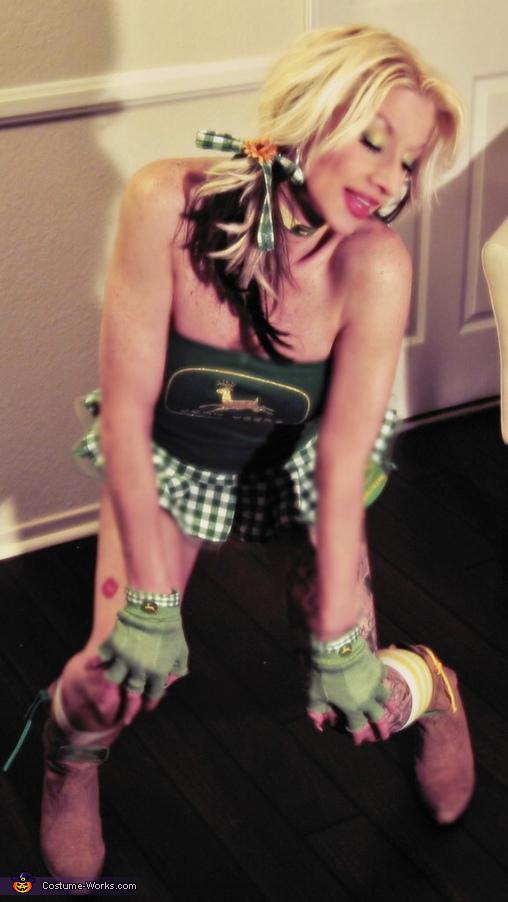 John Deer Tractor Girls Homemade Costume