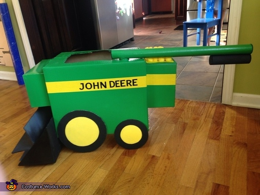 Side View, Ace John Deere Combine Costume