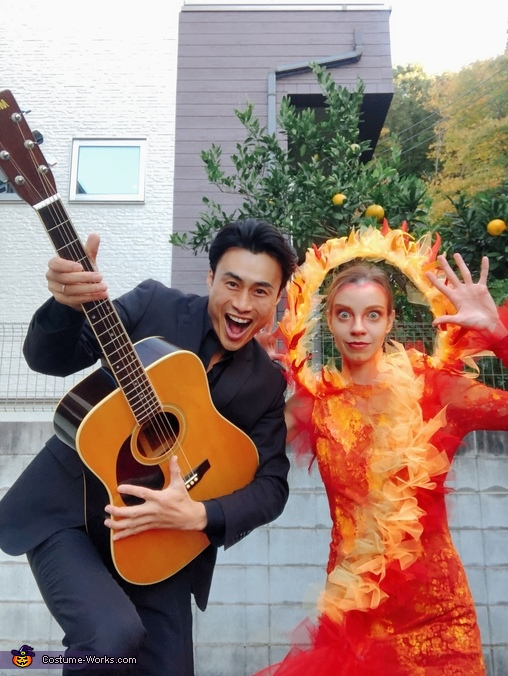 Johnny Cash and Ring of Fire Homemade Costume