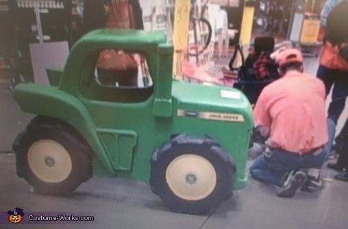 Johnny's John Deere tractor, John Deere Tractor Wheelchair Costume