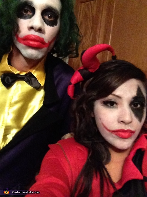 Joker and Harley Quinn Couple Homemade Costume  sc 1 st  Costume Works & Joker and Harley Quinn Couples Costume - Photo 2/2