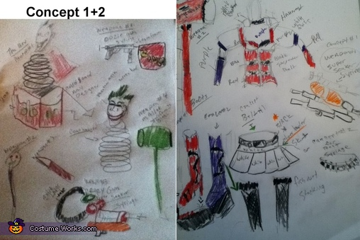 Concepts 1+2, The Super Joker and his little Minion Costume