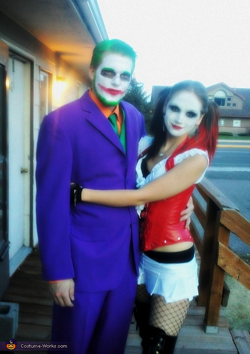 joker and his sidekick harley quinn costume - Joker Halloween Costume Kids