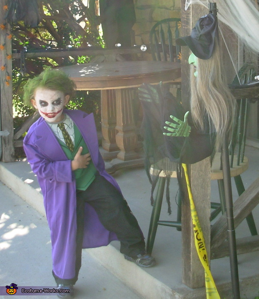 Landon Chambers, Batman Enemy Joker from the Dark Knight Costume