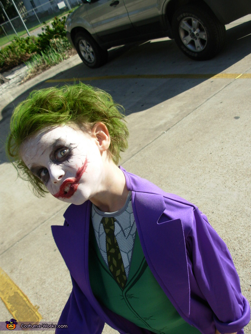 just a bit crazy batman enemy joker from the dark knight costume - Joker Halloween Costume Kids