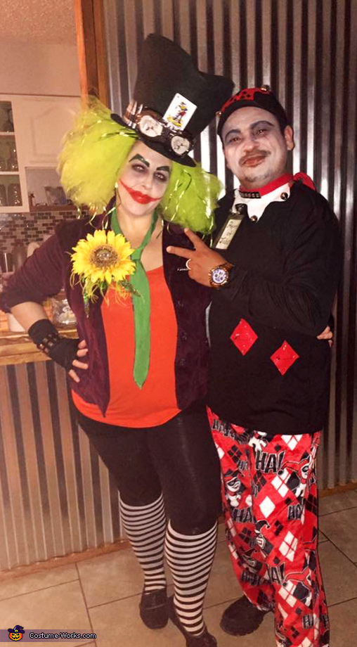 Joker / Mad Hater and Harley Quinn Costume