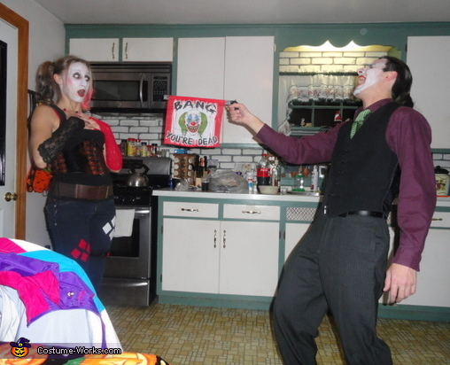Homemade Joker and Harley Quinn Costume