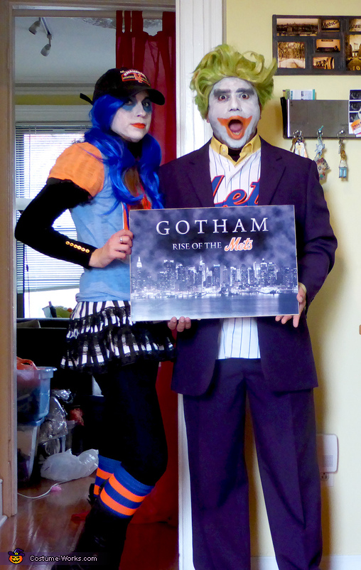 Joker & Harley Quinn as Mets Fans at the World Series Costume