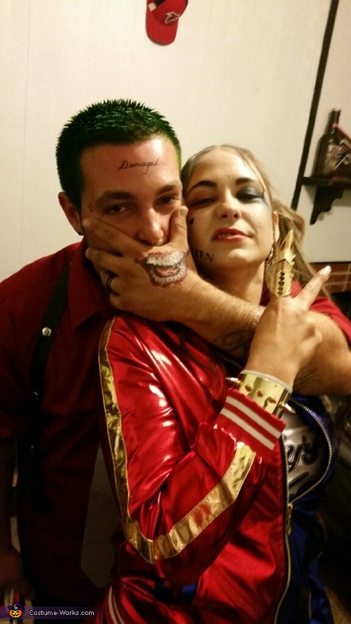 Puddin & his queen, Joker & Harley Quinn Suicide Squad Costume