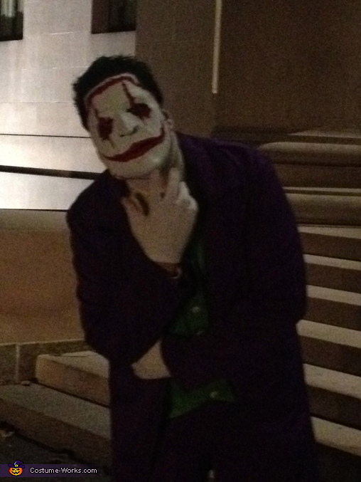 Mask on , The Joker New 52 Costume