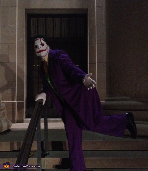 Dancing on the steps of city hall , The Joker New 52 Costume