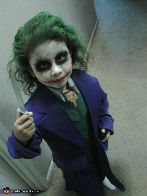 joker the dark knight costume - Joker Halloween Costume Kids