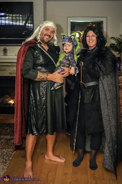 Jon Snow, Daenerys Targaryen and her Dragon Costume