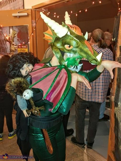 Enjoying the Halloween party, Jon Snow, Dragonrider Costume