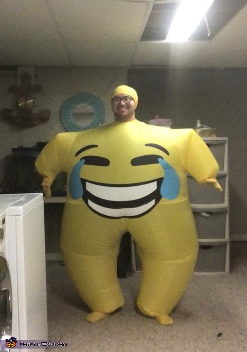 Joy Emoji Inflatable Costume