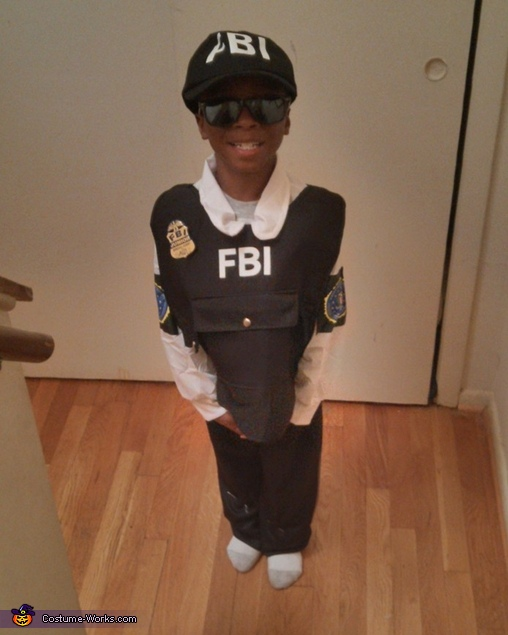 Jr FBI Agent Homemade Costume