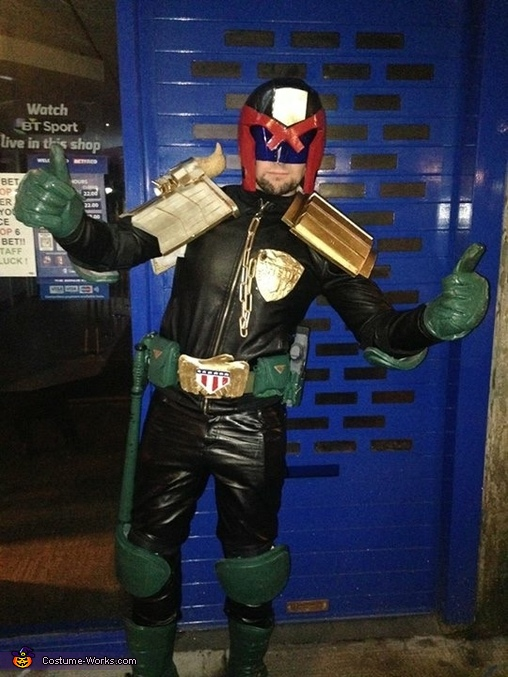 Always time to have some fun when out in town, Judge Dredd Costume
