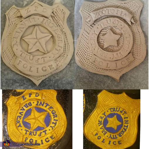 Badges Before and After!, Judy Hopps Costume