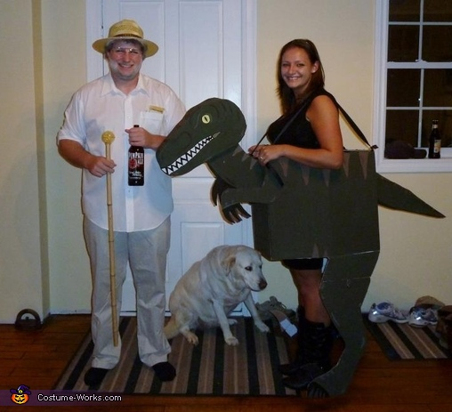 Jurassic Park: Dr. Hammond & Raptor Couple Costume