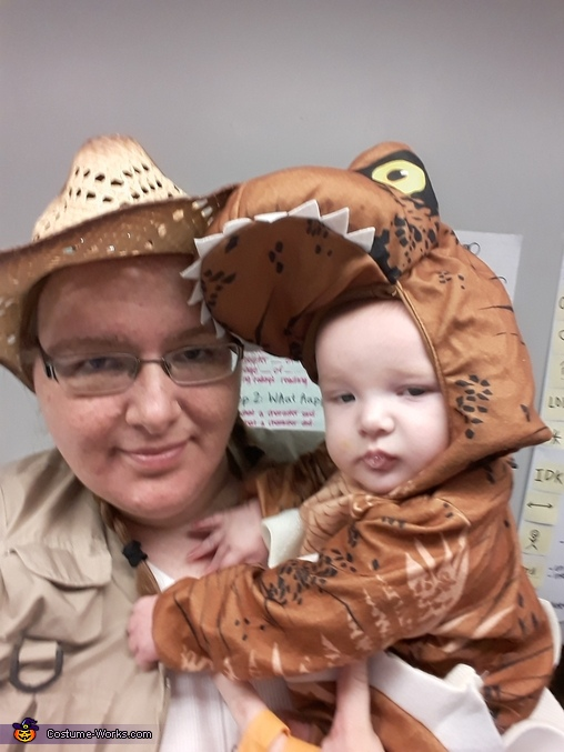 Jurassic T-Rex hatchling with Archeologist Costume