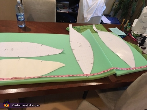 making the foam pattern, Kakamora from Moana Costume