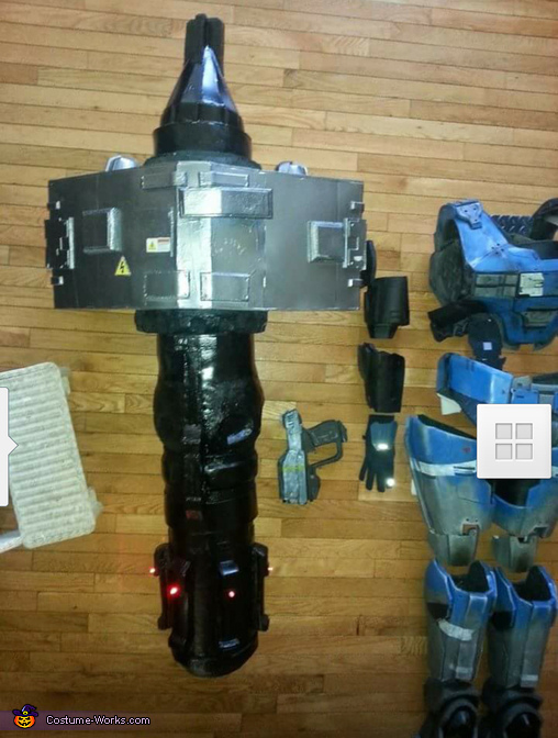 missel pod n armor finished, Kat from Halo Reach Costume