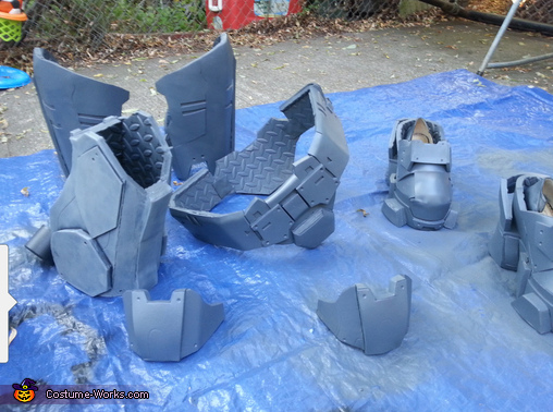 making armor, Kat from Halo Reach Costume