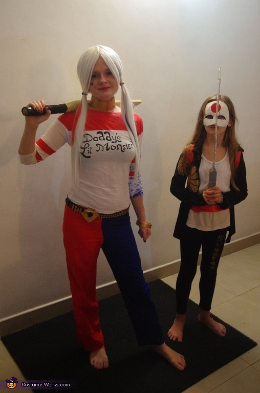 Katana and Harley Quinn Homemade Costume