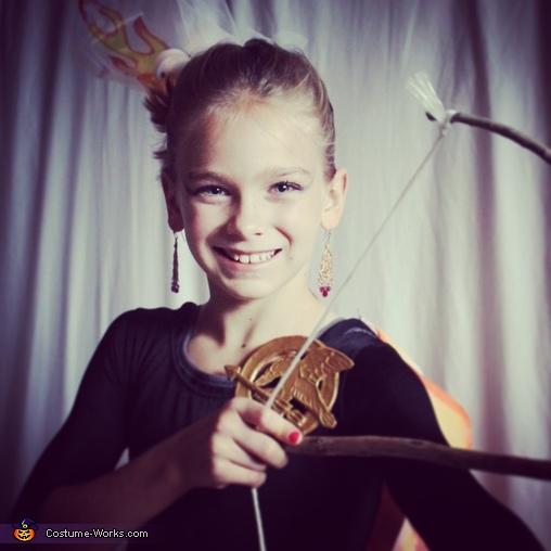 Katniss, Girl on Fire Homemade Costume