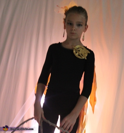 Katniss, Girl on Fire Homemade Costume