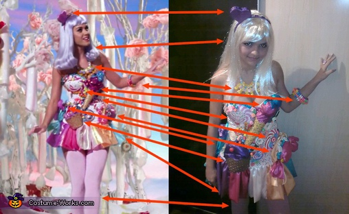 Comparison, Katy Perry California Gurls Costume