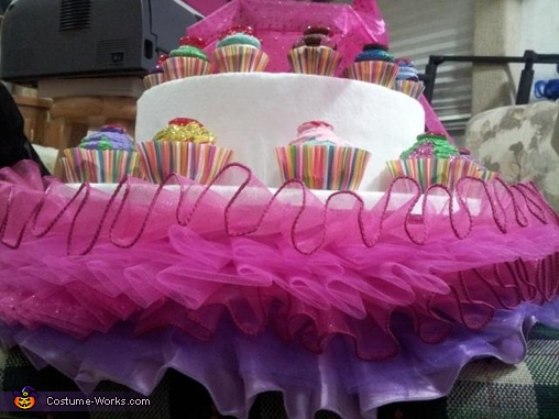 Some closeups of the skirt, Katy Perry Cupcake Dress Costume