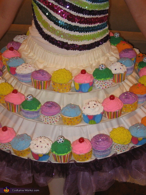 Cupcake Skirt Close-up, Katy Perry's Cupcake Dress Costume