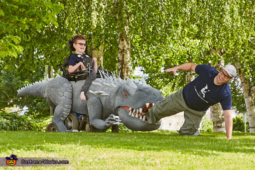 Keaton and The Indominus Rex Homemade Costume