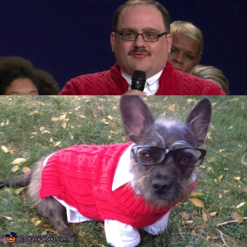 Side by side comparison, Ken Bone Costume