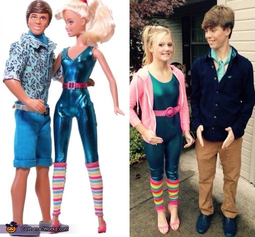 Ken & Barbie Homemade Costume