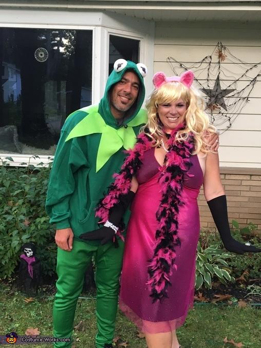 Kermit and Miss Piggie Homemade Costume